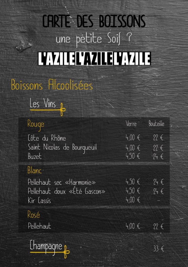 carte menu boisson 2017 20182