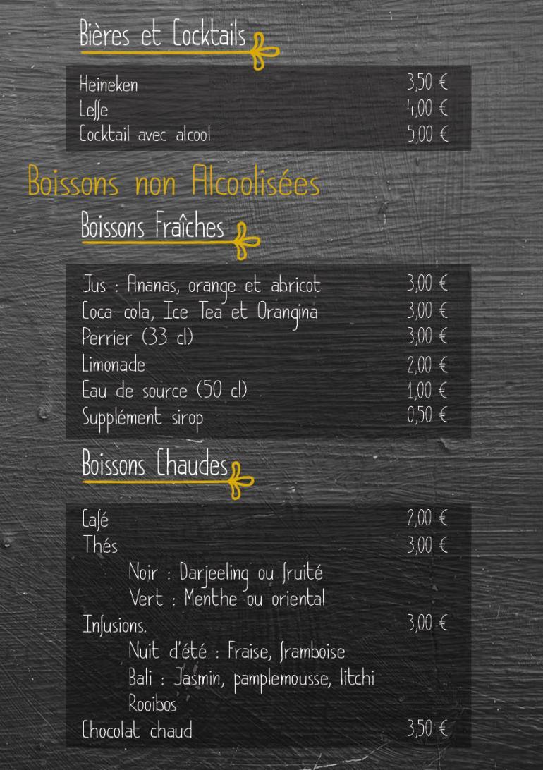 carte menu boisson 2017 20183