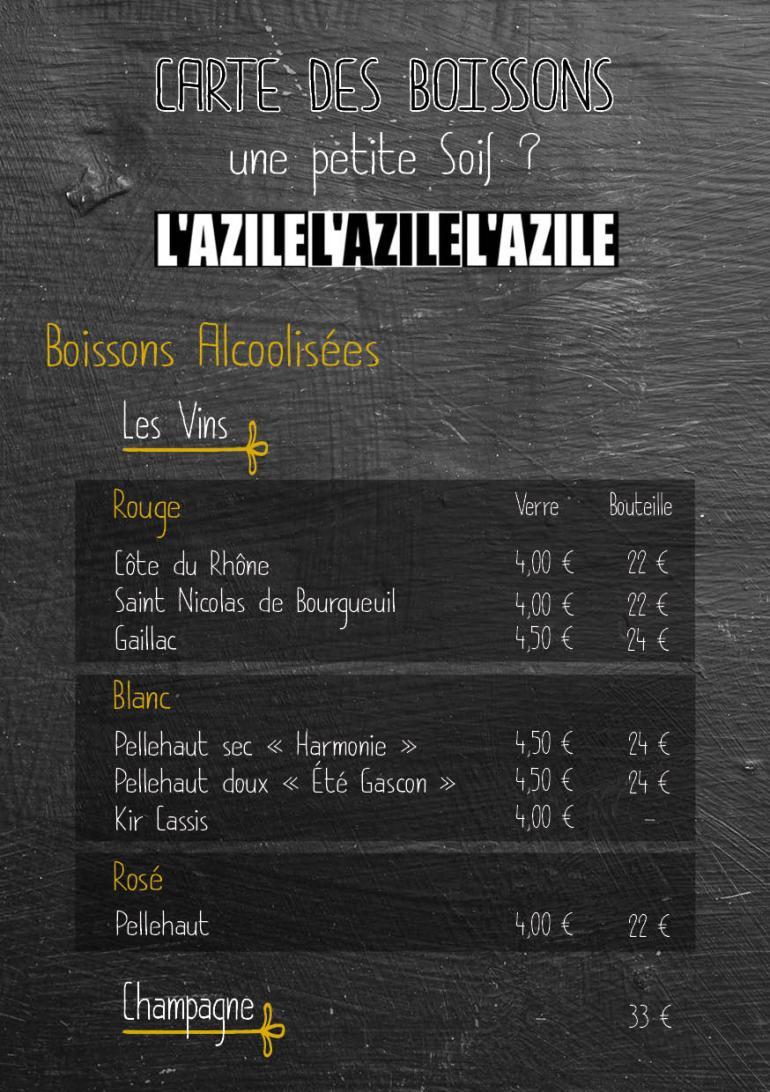 carte menu boisson 2019 20202