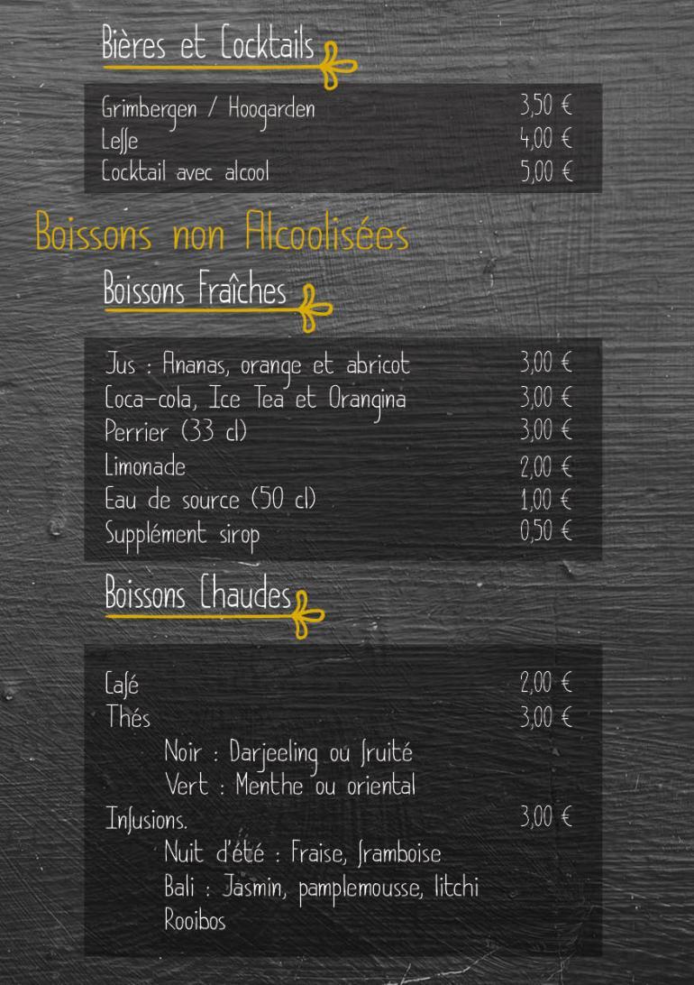 carte menu boisson 2019 20203
