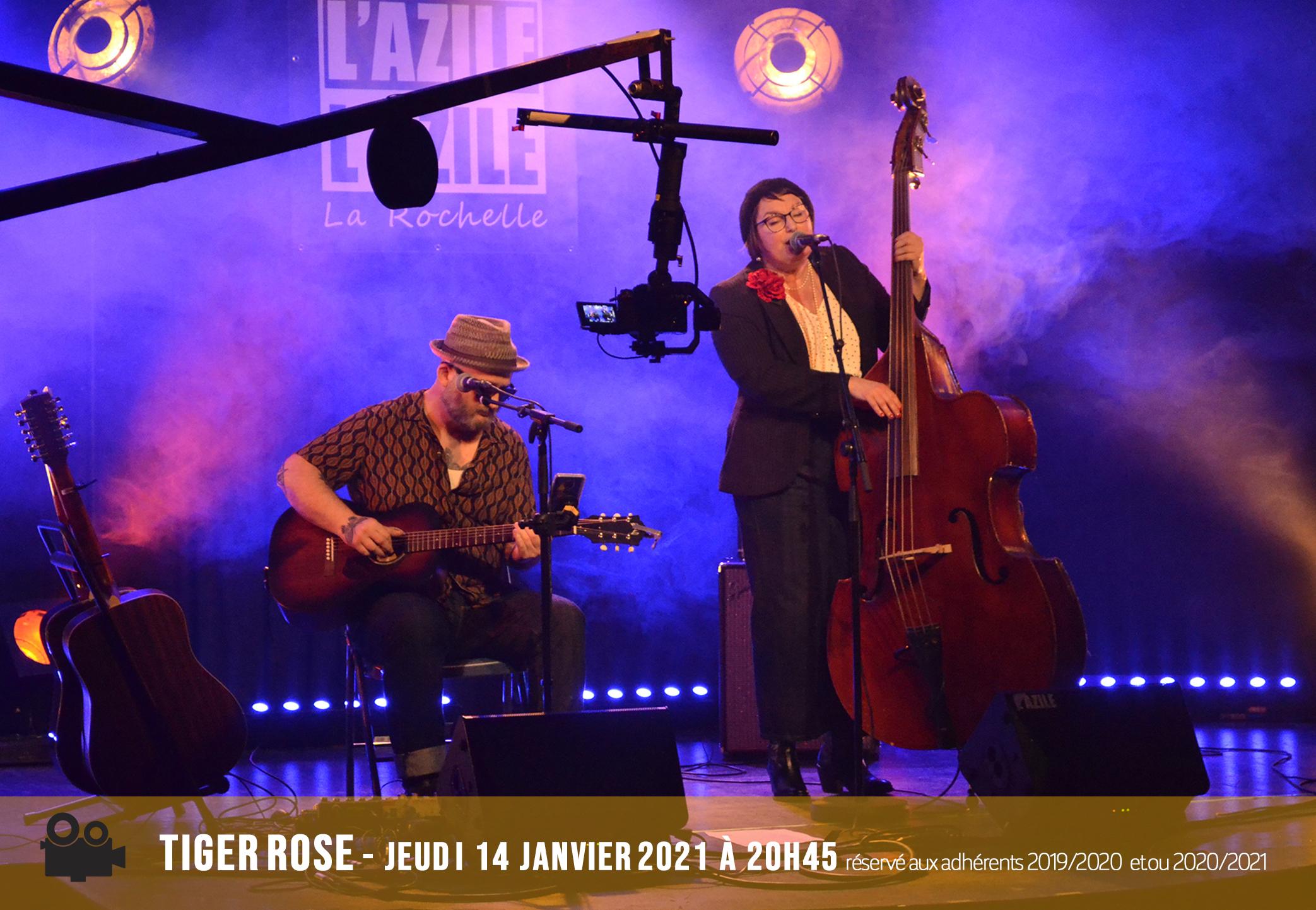 Annonce Concert en Live Stream - Tiger Rose 14 janvier 2021 - BD
